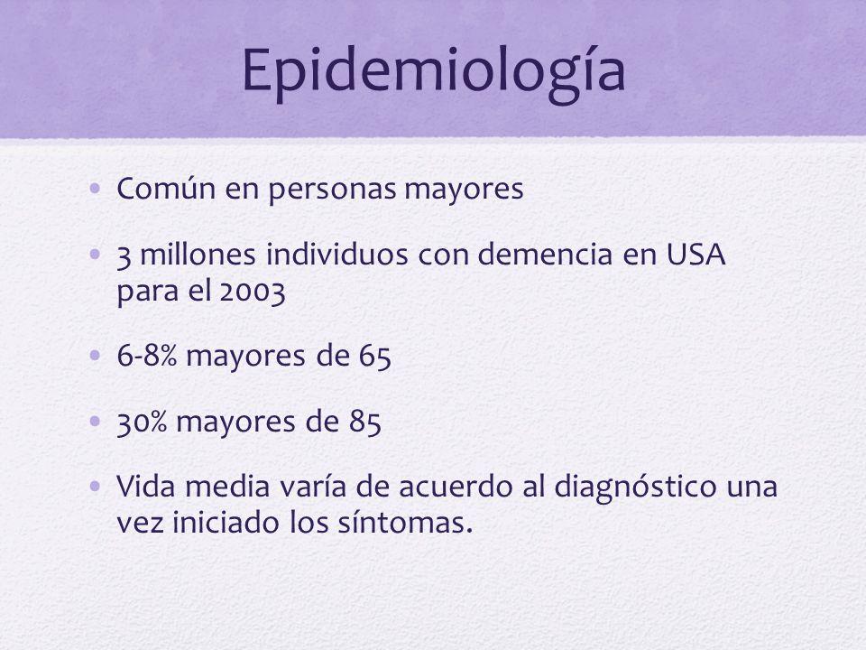 Epidemiología Común en personas mayores