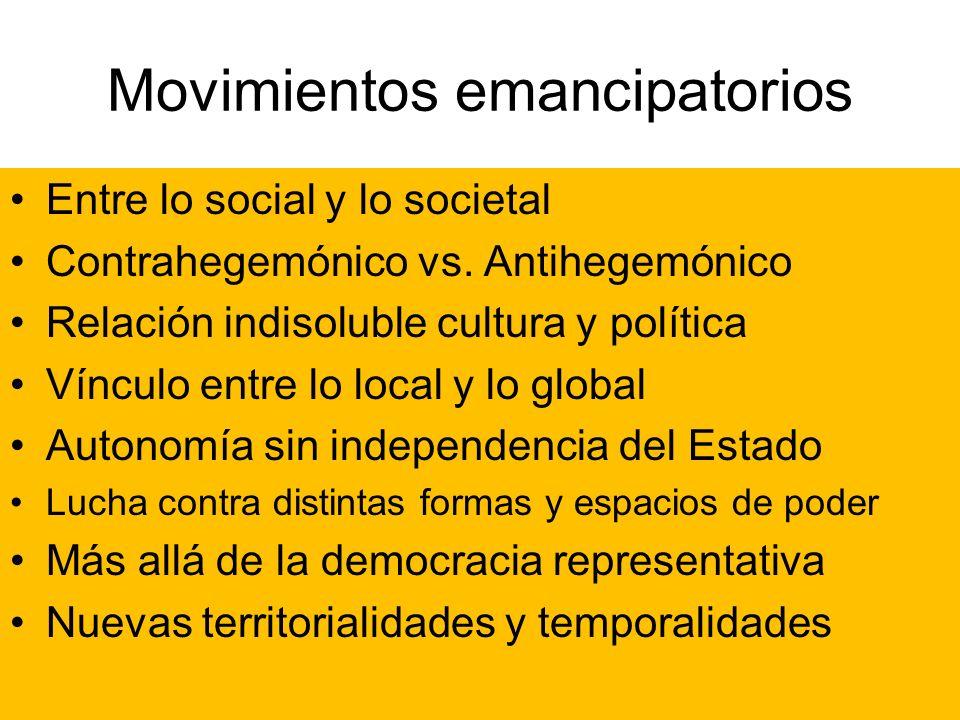 Movimientos emancipatorios