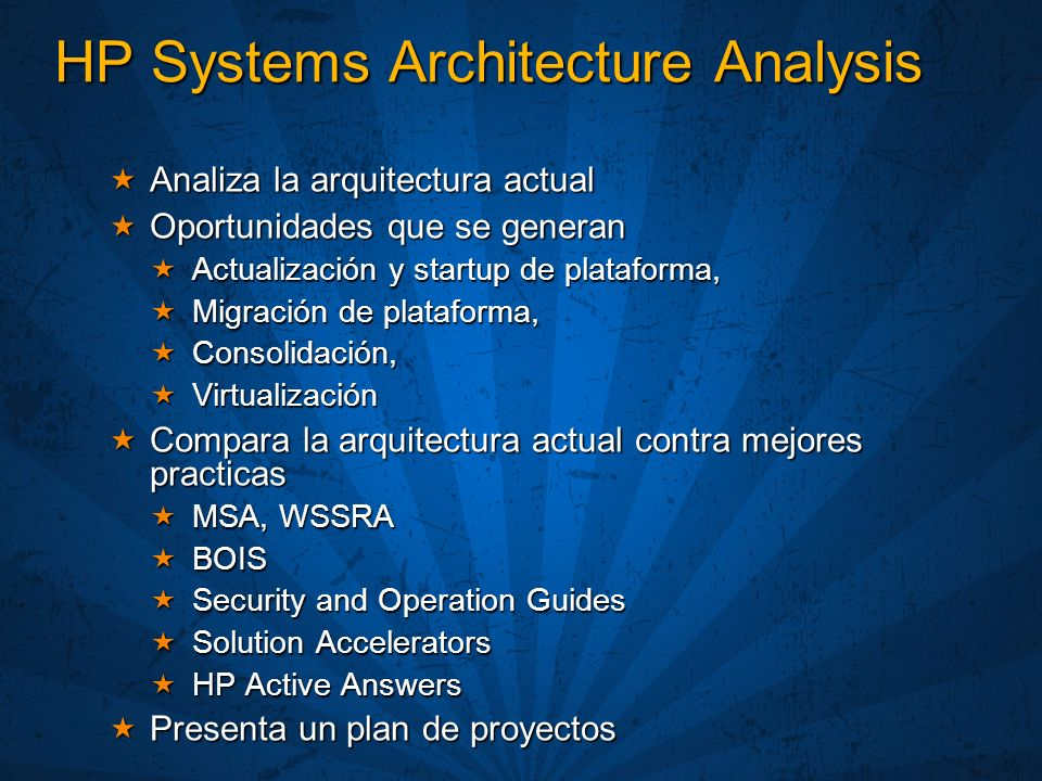 HP Systems Architecture Analysis