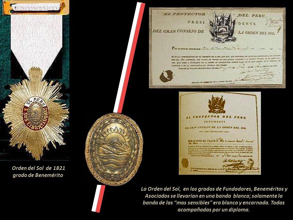 Orden del Sol de 1821 grado de Benemérito