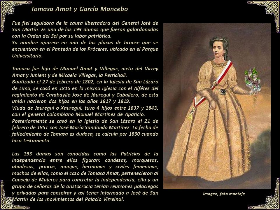 Tomasa Amat y García Mancebo
