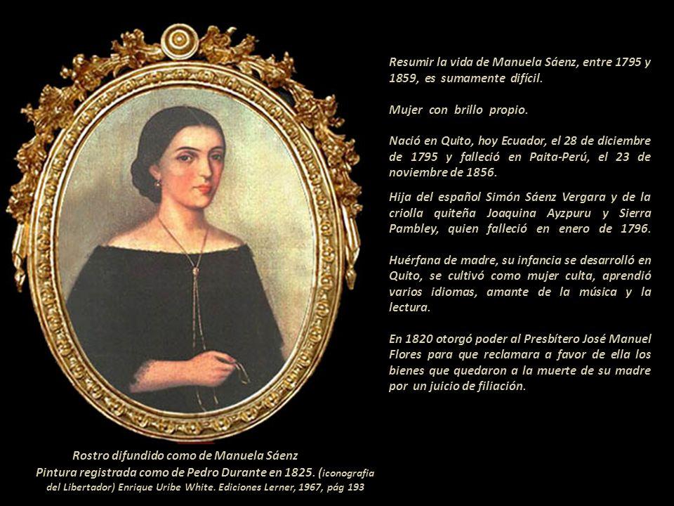 Rostro difundido como de Manuela Sáenz