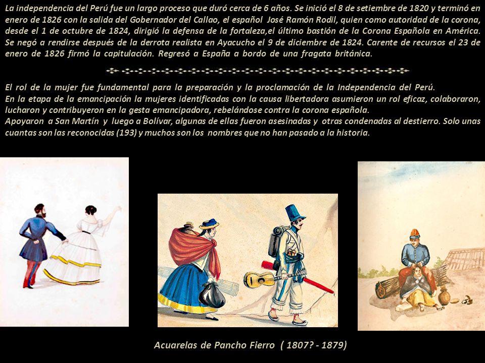 Acuarelas de Pancho Fierro ( 1807 - 1879)
