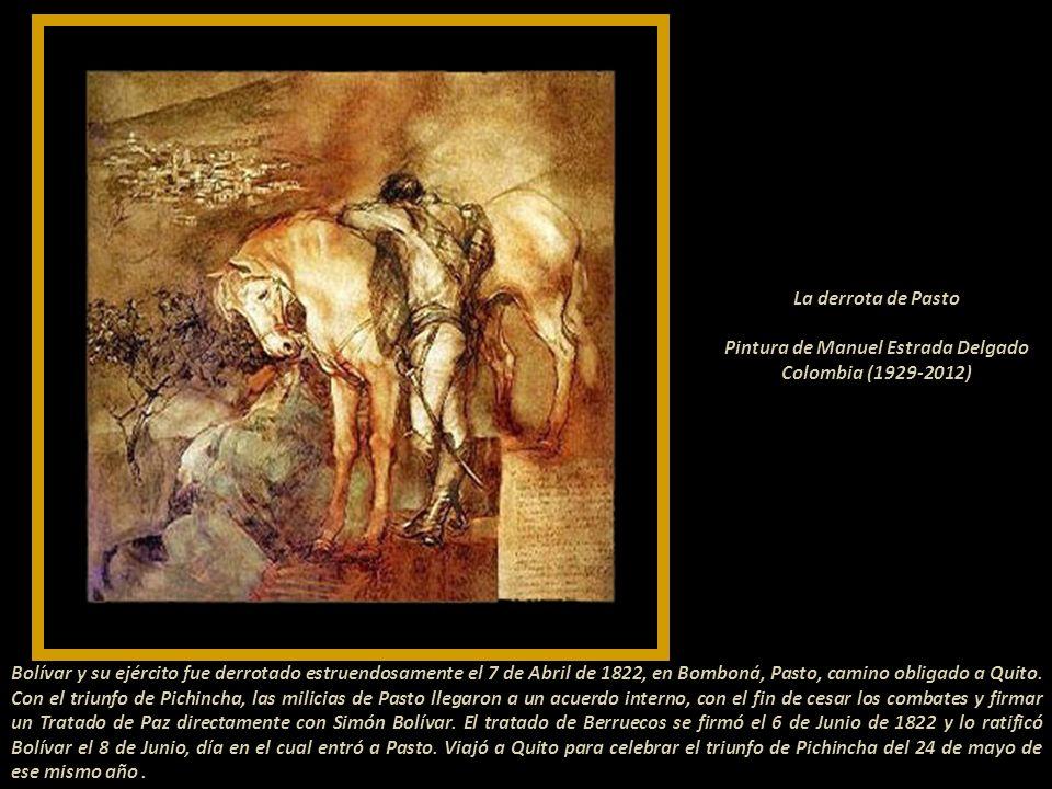 La derrota de Pasto Pintura de Manuel Estrada Delgado Colombia (1929-2012)