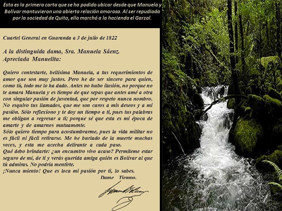 Cuartel General en Guaranda a 3 de julio de 1822