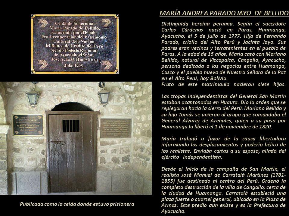MARÍA ANDREA PARADO JAYO DE BELLIDO