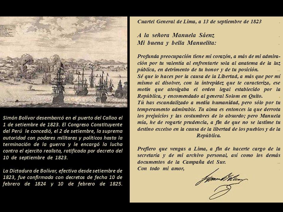 Cuartel General de Lima, a 13 de septiembre de 1823
