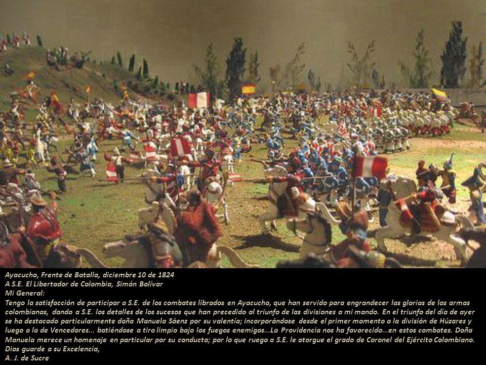 Ayacucho, Frente de Batalla, diciembre 10 de 1824 A S. E