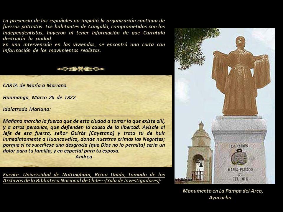 Monumento en La Pampa del Arco, Ayacucho. -