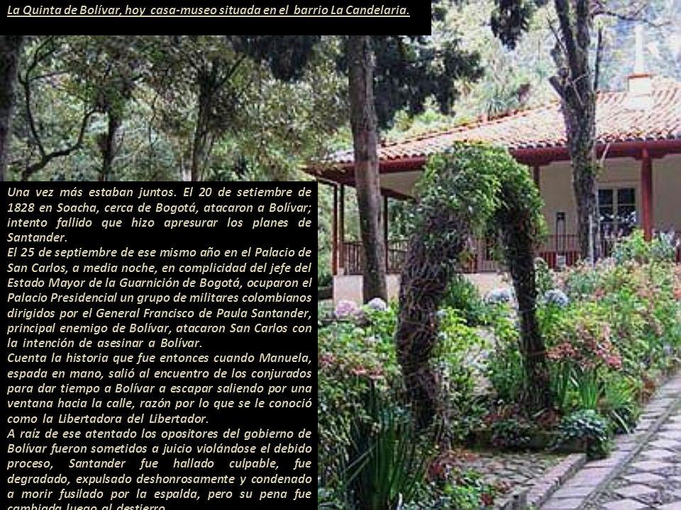 La Quinta de Bolívar, hoy casa-museo situada en el barrio La Candelaria.