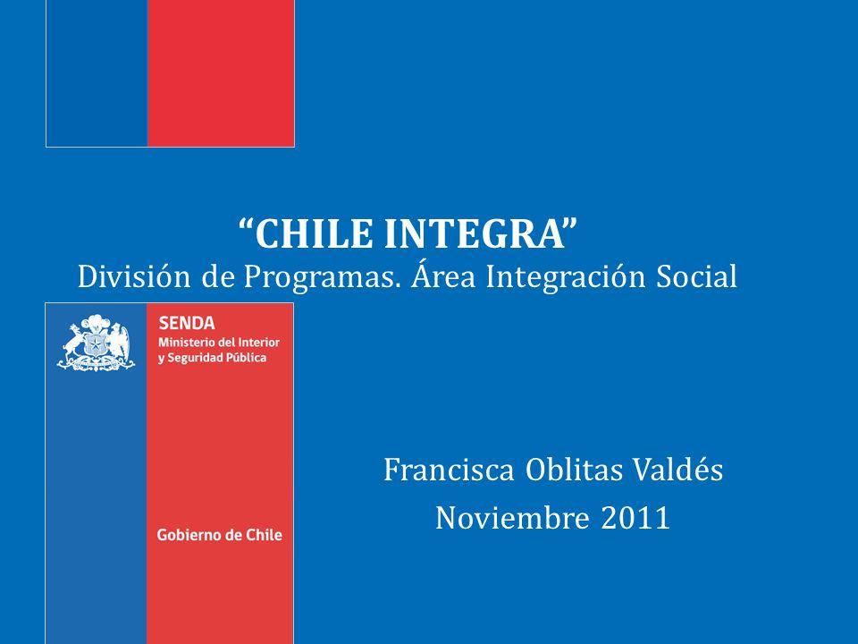 División de Programas. Área Integración Social