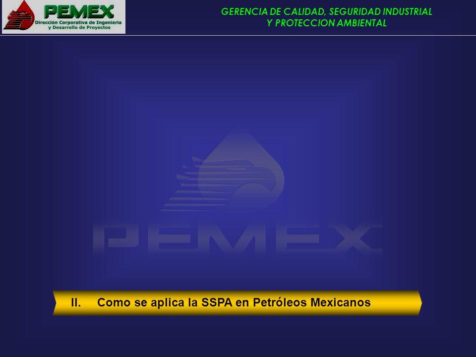 II. Como se aplica la SSPA en Petróleos Mexicanos