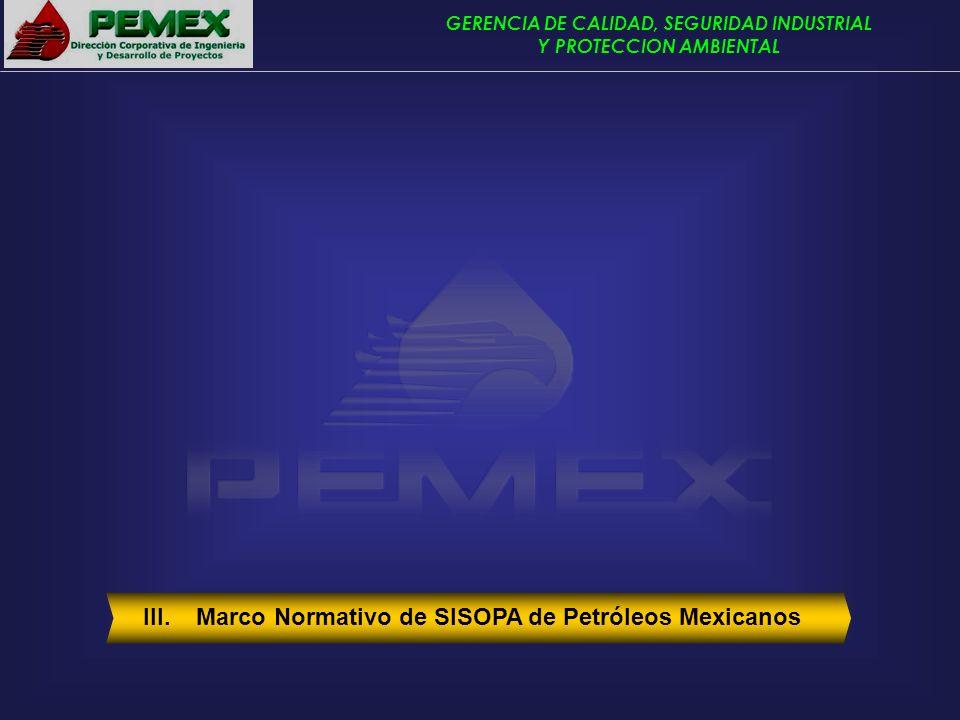III. Marco Normativo de SISOPA de Petróleos Mexicanos
