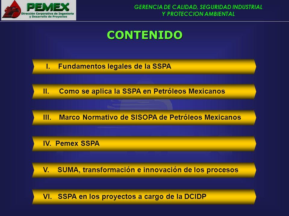 CONTENIDO I. Fundamentos legales de la SSPA