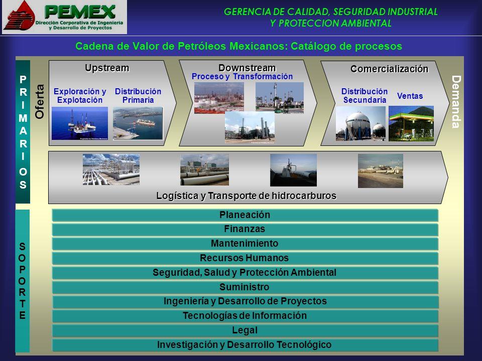 Cadena de Valor de Petróleos Mexicanos: Catálogo de procesos