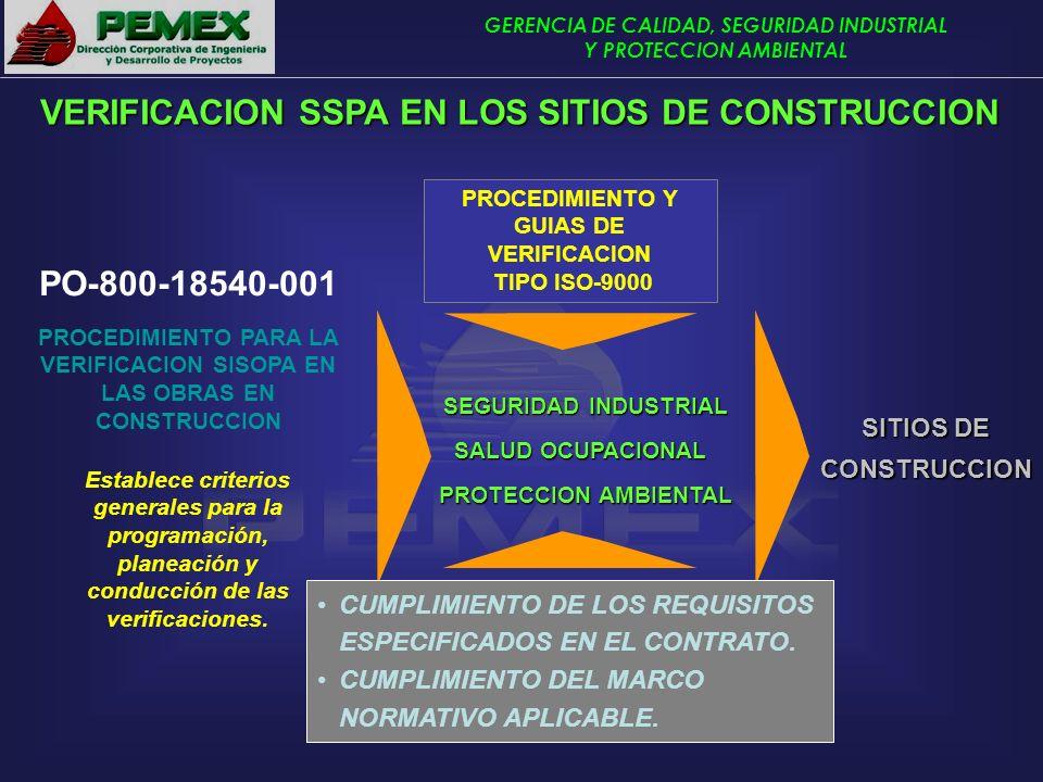 VERIFICACION SSPA EN LOS SITIOS DE CONSTRUCCION