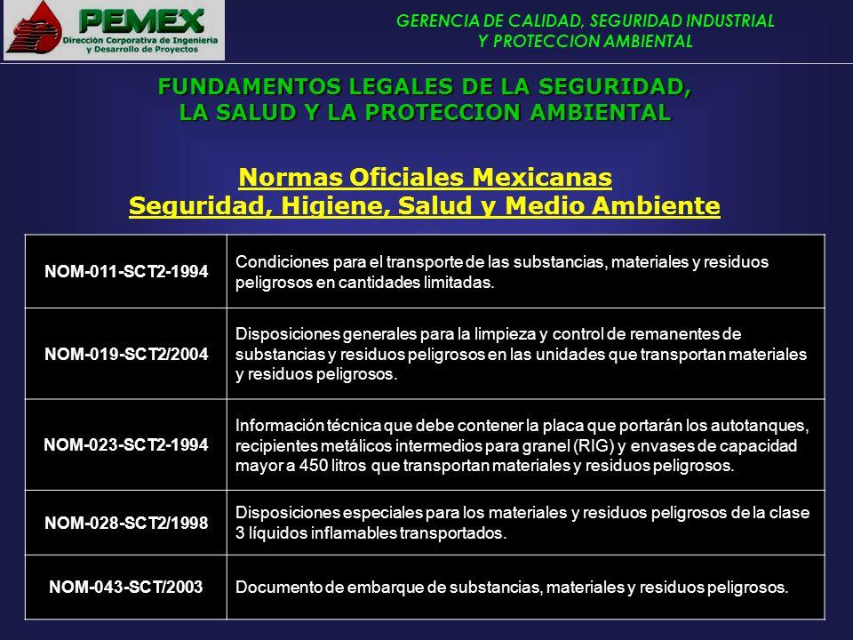 Normas Oficiales Mexicanas Seguridad, Higiene, Salud y Medio Ambiente