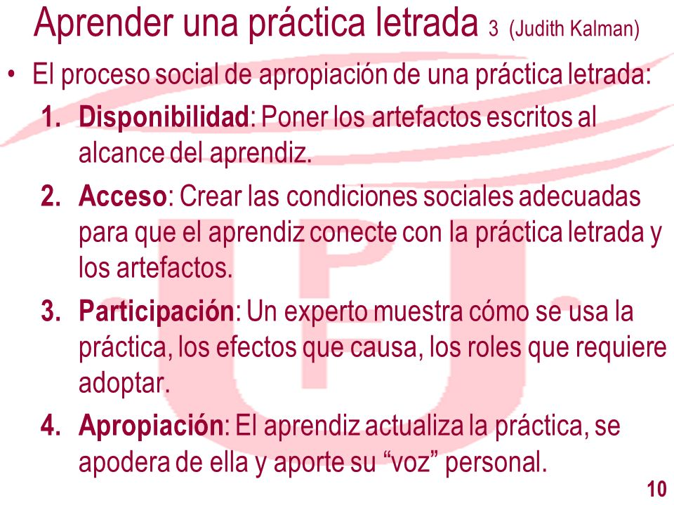 Aprender una práctica letrada 3 (Judith Kalman)
