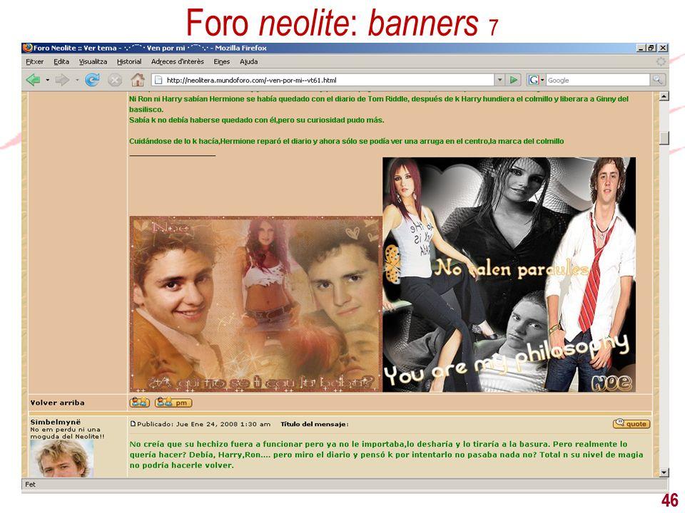 Foro neolite: banners 7 46 46 46