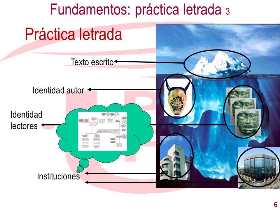 Fundamentos: práctica letrada 3