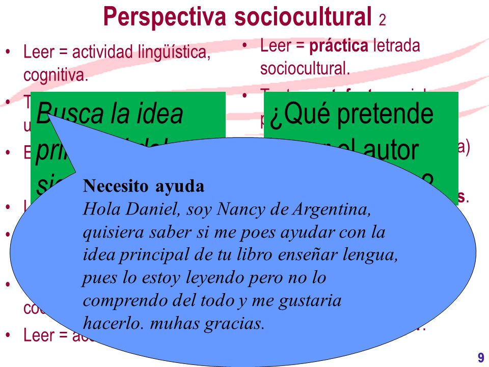 Perspectiva sociocultural 2