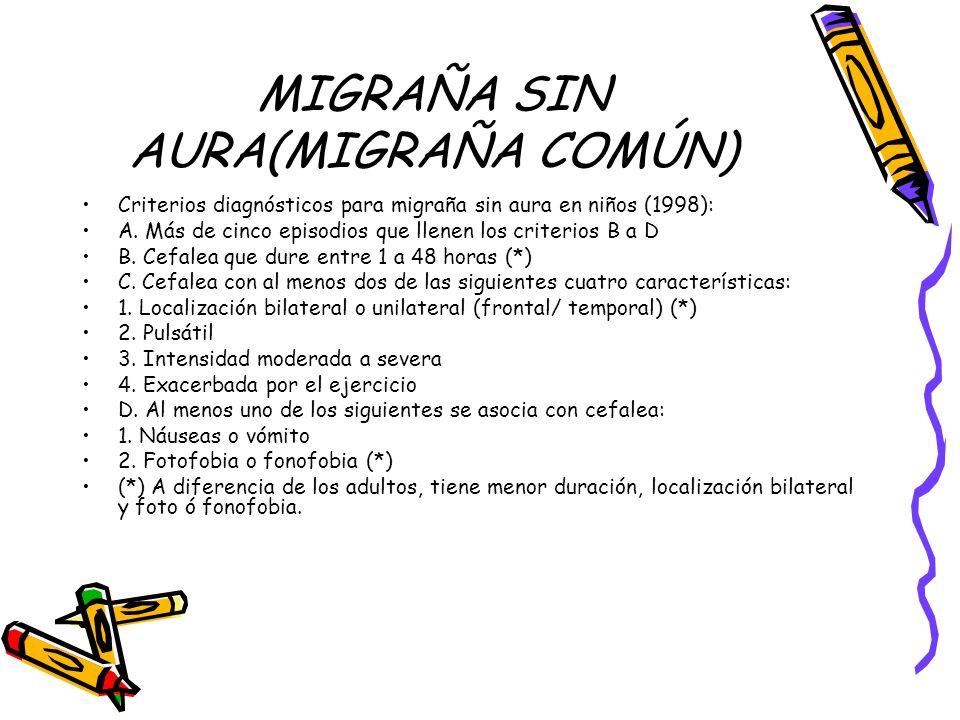 MIGRAÑA SIN AURA(MIGRAÑA COMÚN)