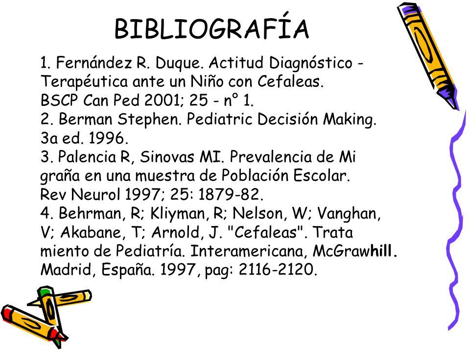 BIBLIOGRAFÍA 1. Fernández R. Duque. Actitud Diagnóstico -