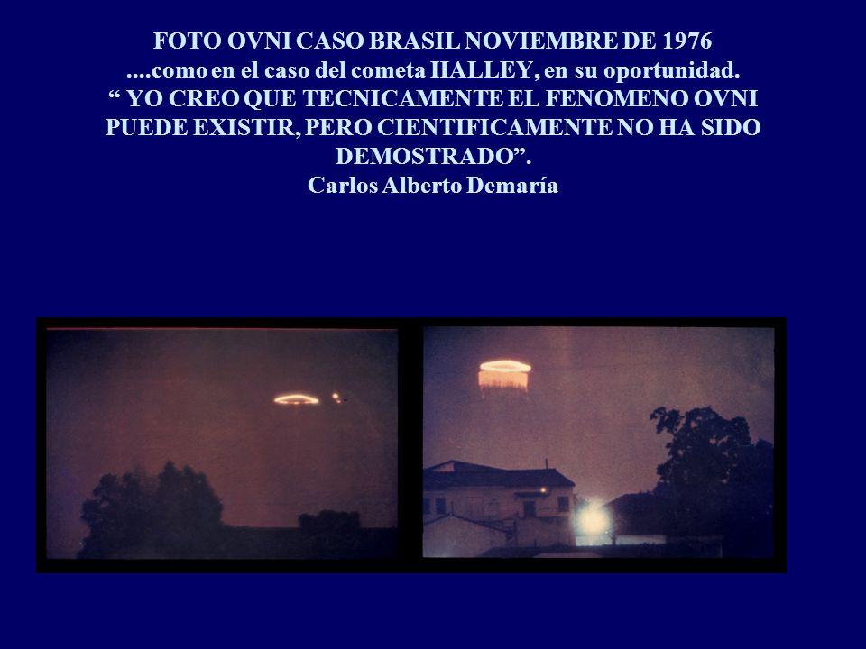 FOTO OVNI CASO BRASIL NOVIEMBRE DE 1976