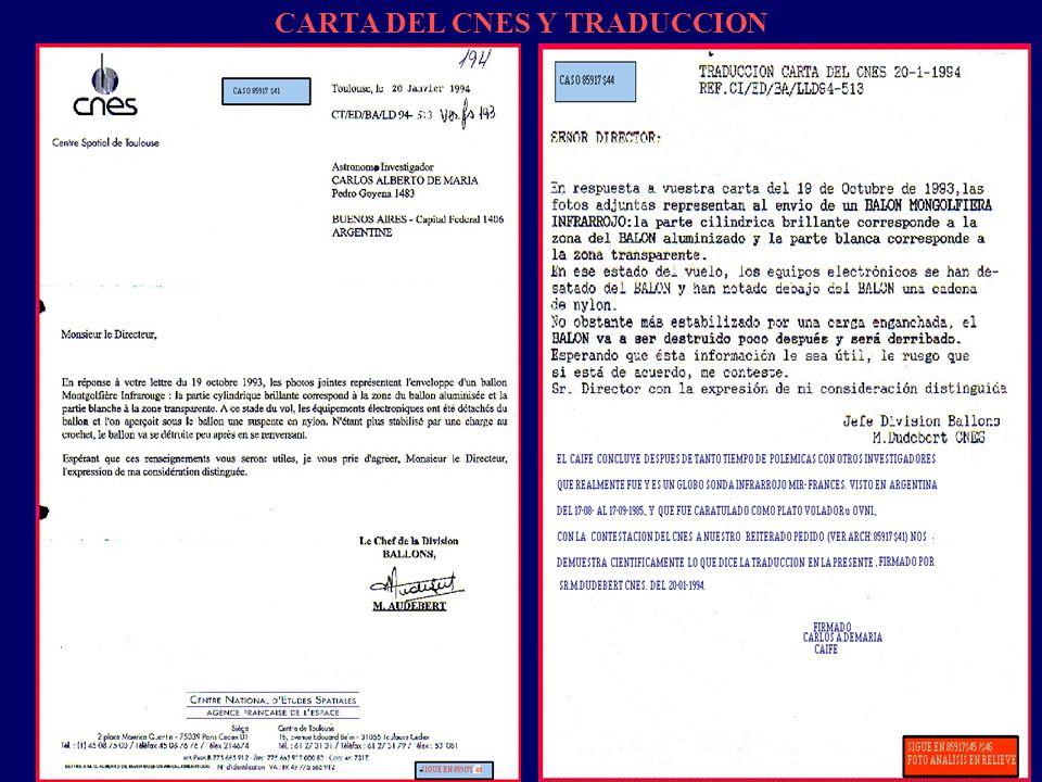CARTA DEL CNES Y TRADUCCION