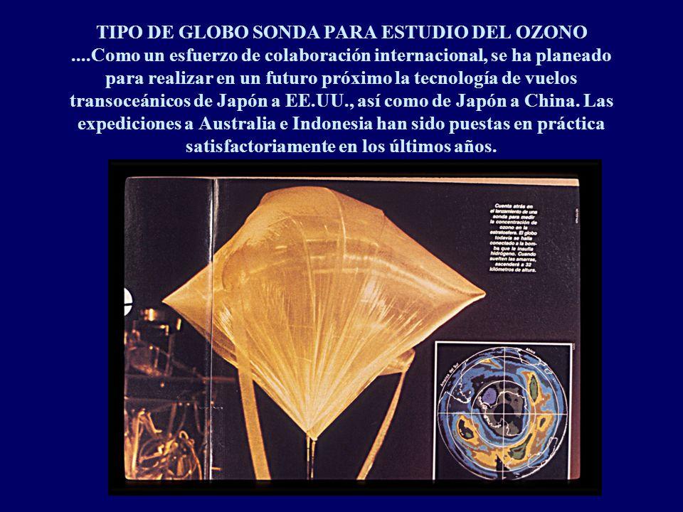 TIPO DE GLOBO SONDA PARA ESTUDIO DEL OZONO