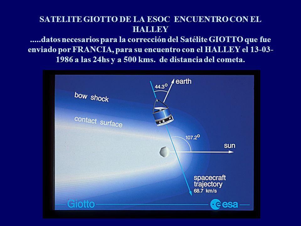SATELITE GIOTTO DE LA ESOC ENCUENTRO CON EL HALLEY