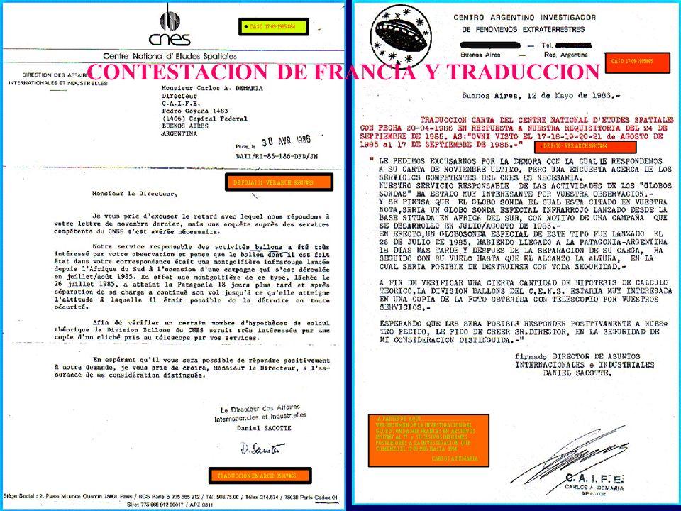 CONTESTACION DE FRANCIA Y TRADUCCION