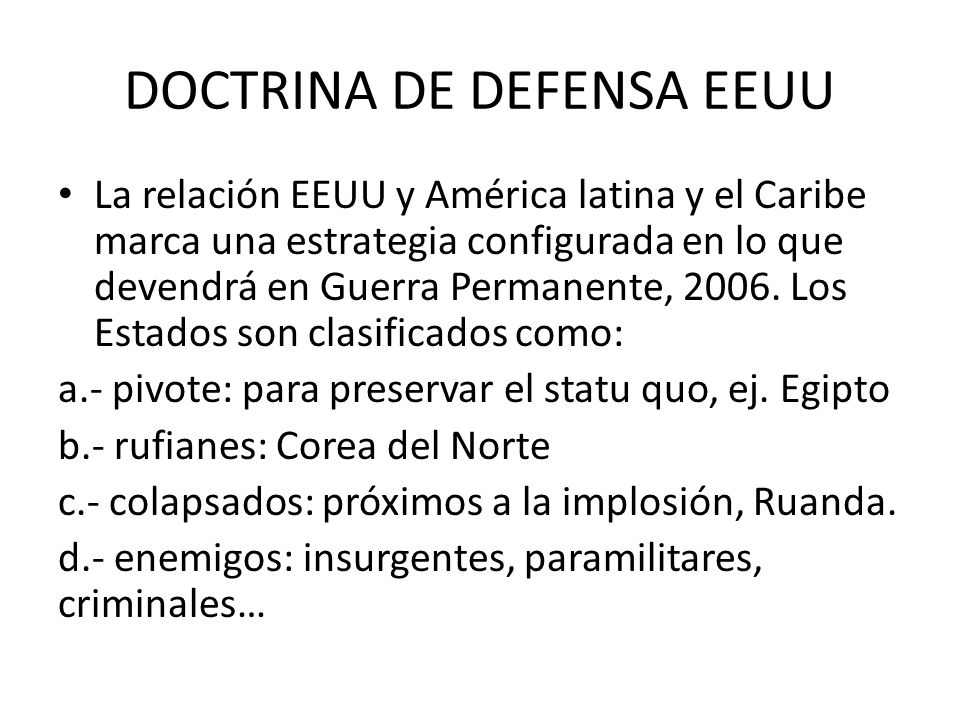 DOCTRINA DE DEFENSA EEUU