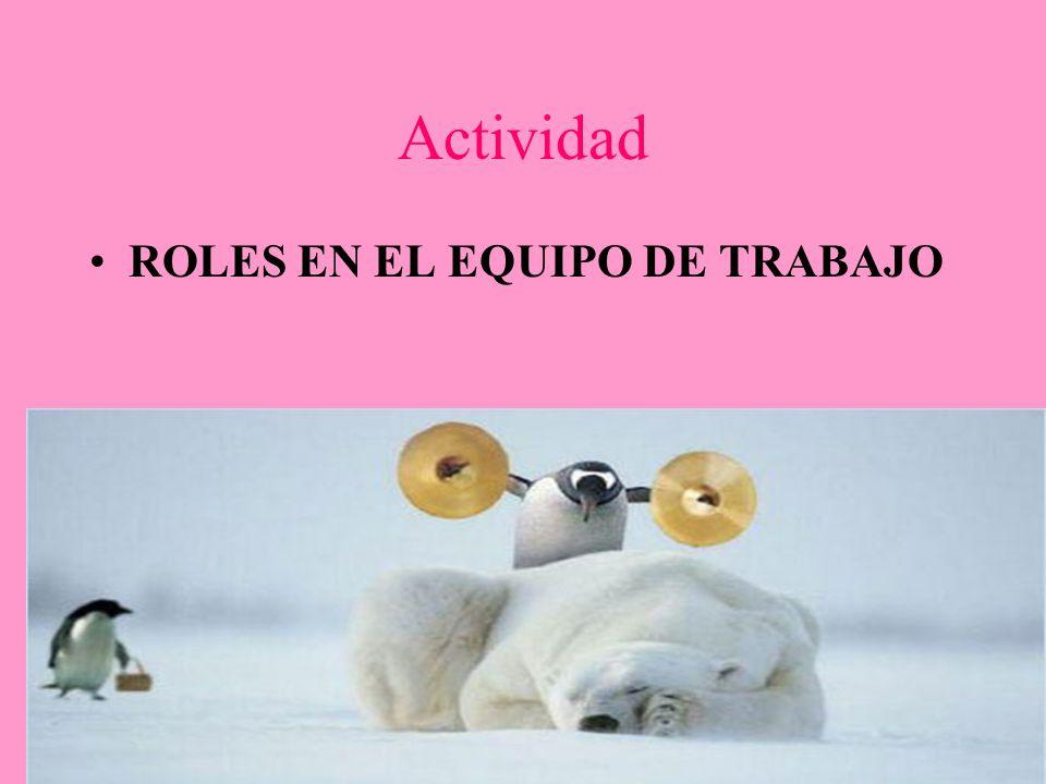 Actividad ROLES EN EL EQUIPO DE TRABAJO