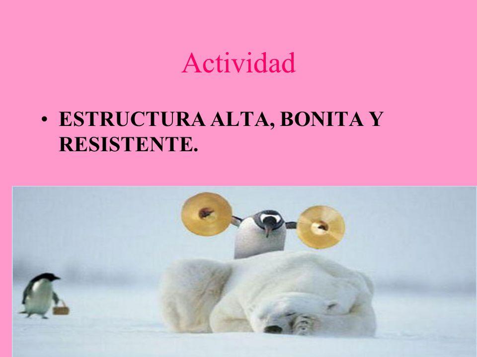 Actividad ESTRUCTURA ALTA, BONITA Y RESISTENTE.