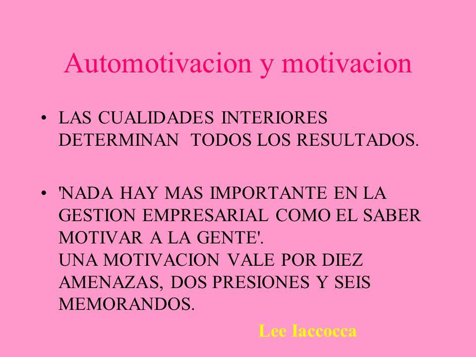 Automotivacion y motivacion
