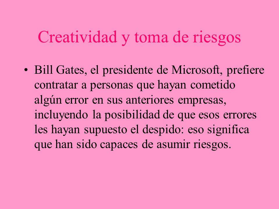 Creatividad y toma de riesgos