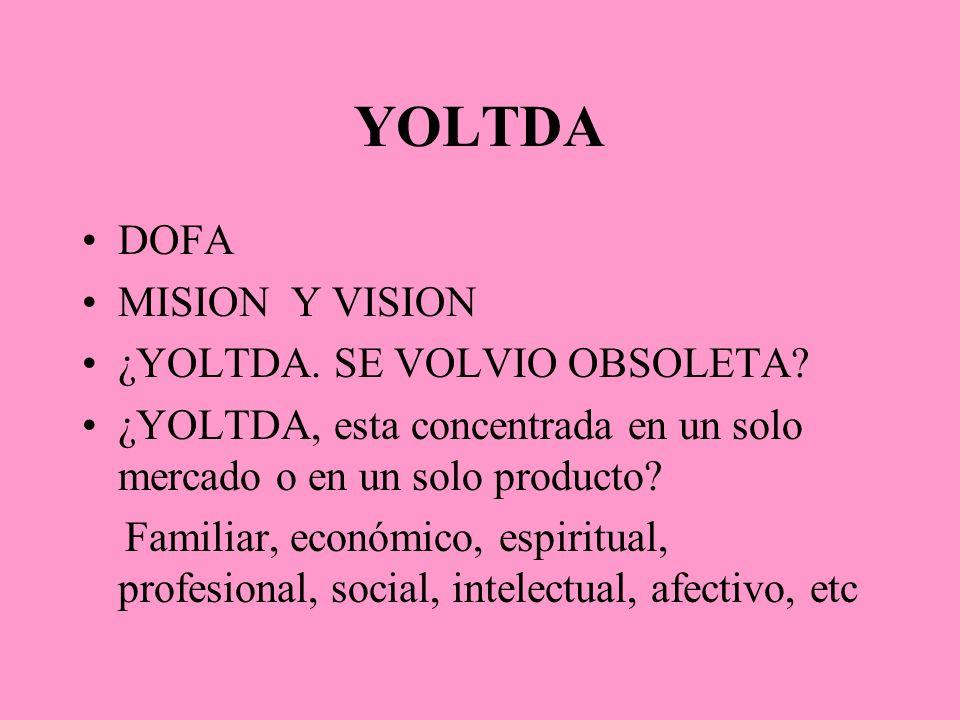 YOLTDA DOFA MISION Y VISION ¿YOLTDA. SE VOLVIO OBSOLETA