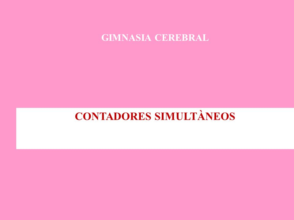 CONTADORES SIMULTÀNEOS
