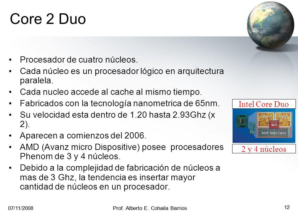 Core 2 Duo Procesador de cuatro núcleos.
