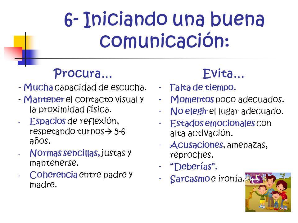 6- Iniciando una buena comunicación: