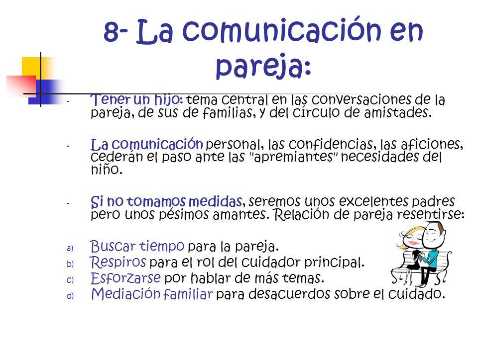8- La comunicación en pareja:
