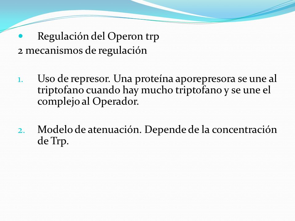 Regulación del Operon trp