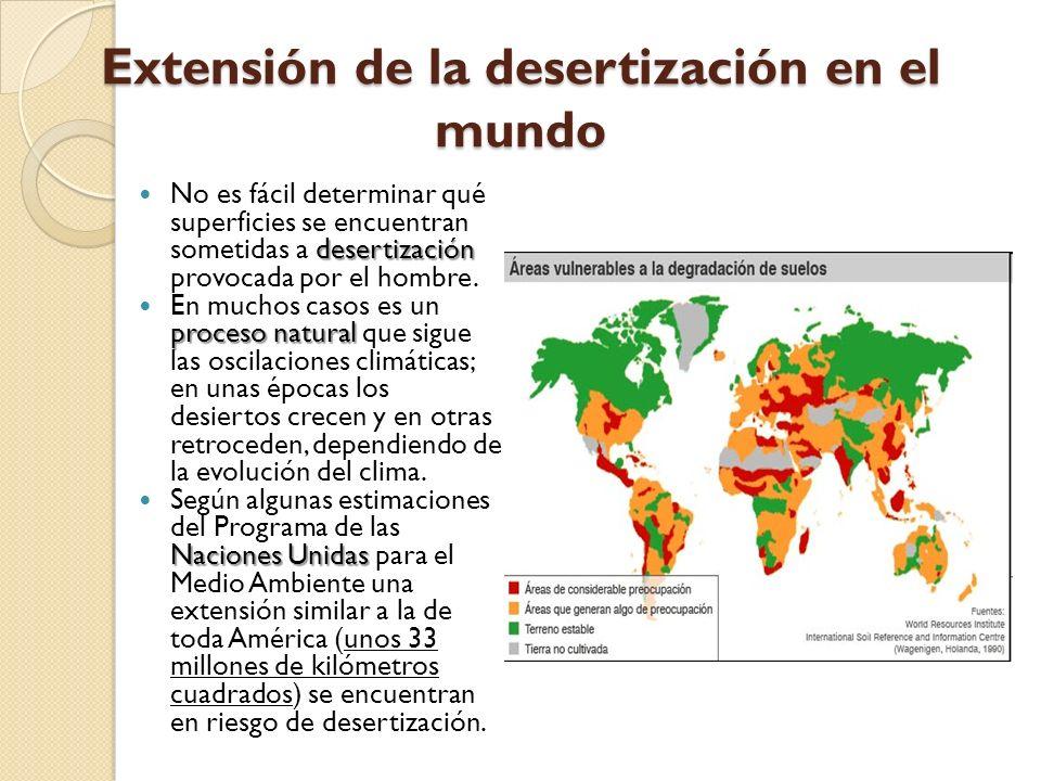 Extensión de la desertización en el mundo