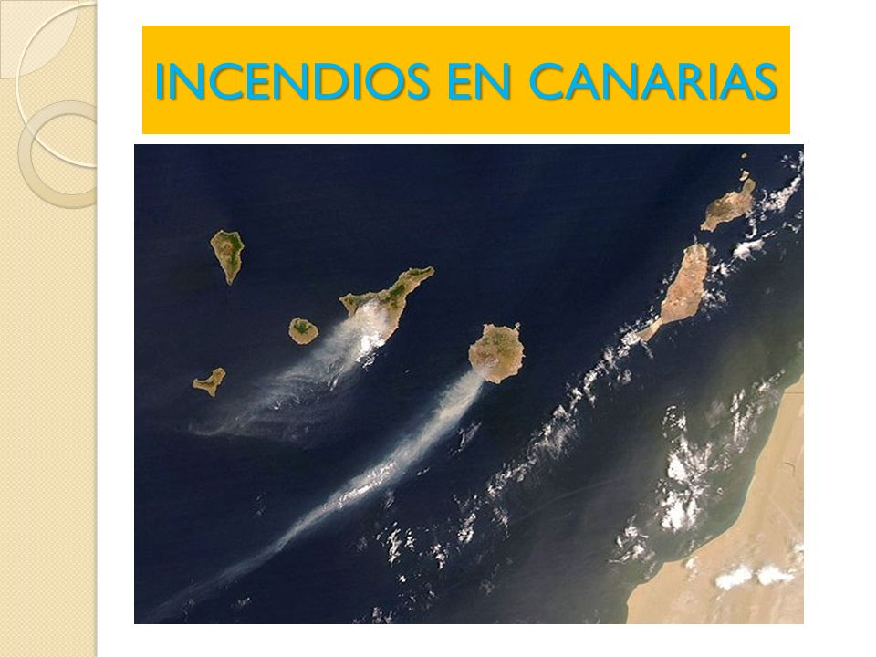 INCENDIOS EN CANARIAS