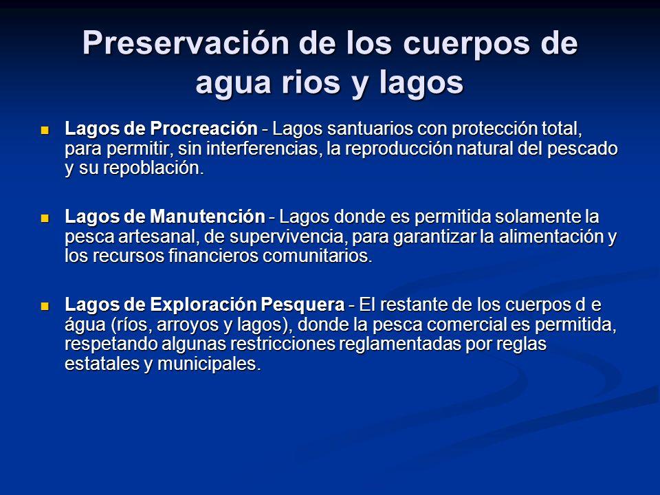 Preservación de los cuerpos de agua rios y lagos