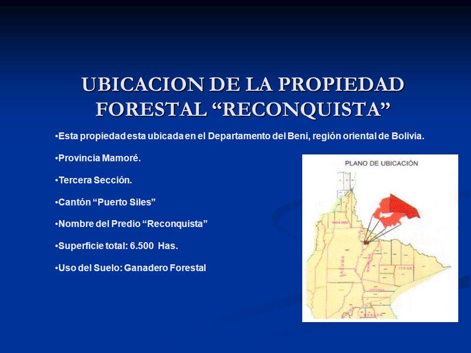UBICACION DE LA PROPIEDAD FORESTAL RECONQUISTA