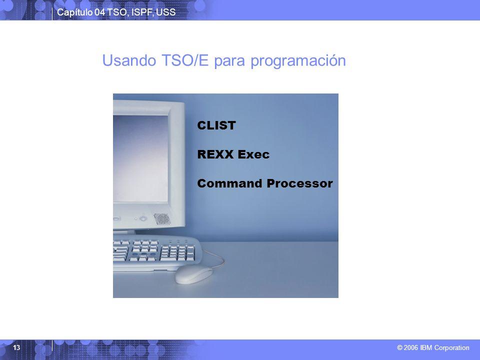Usando TSO/E para programación