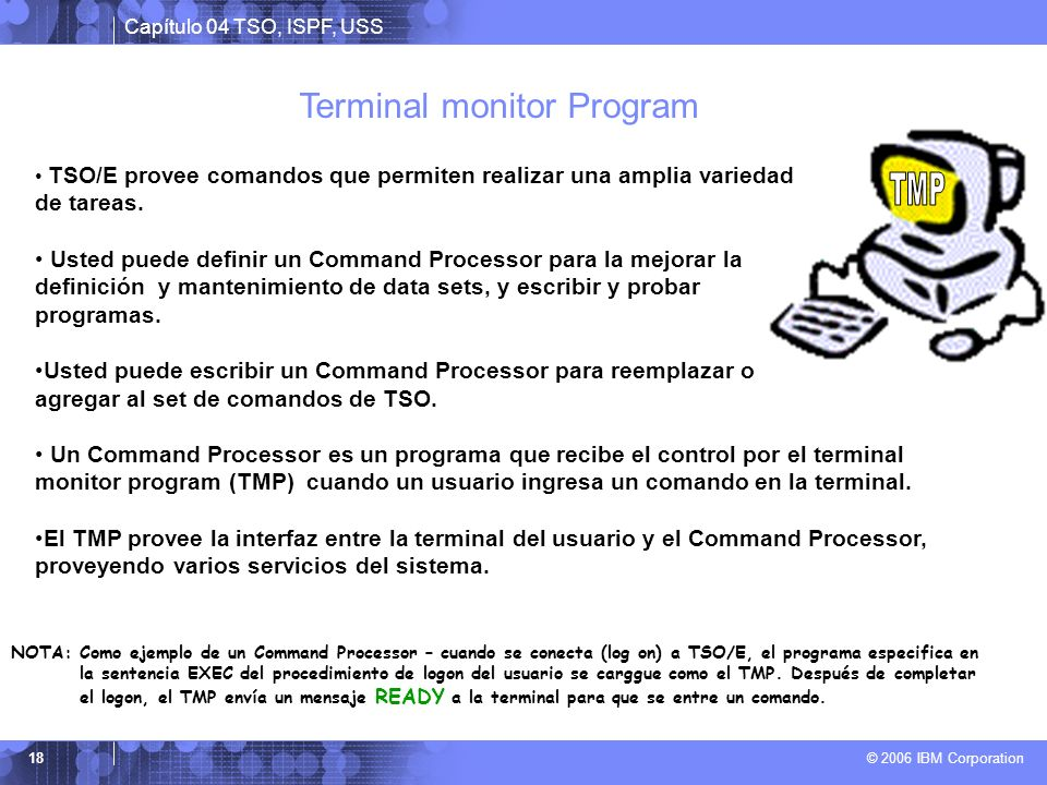 Terminal monitor Program