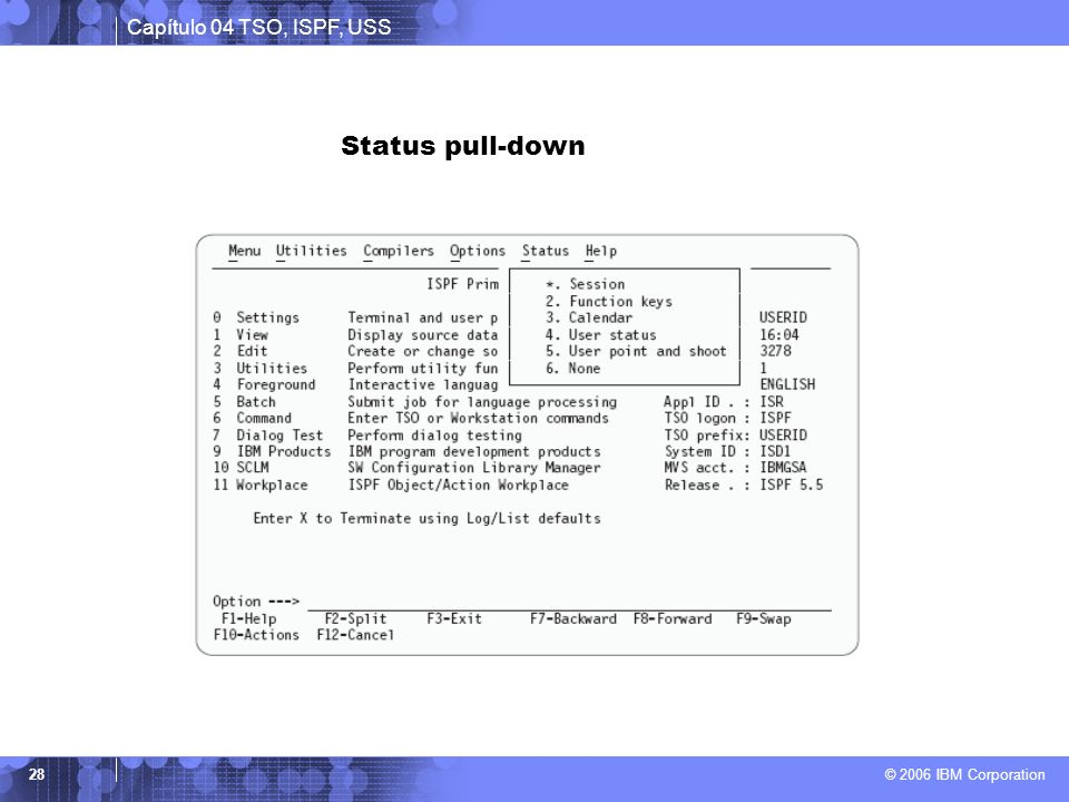 Status pull-down